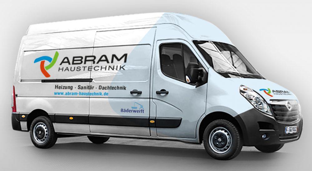 abram-haustechnik-heizung-sanitaer-dachtechnik-autobeschriftung-werbeagentur-grafikladen-dresden